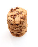 Chocolate Chip Cookies. On white Royalty Free Stock Images