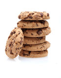 Chocolate Chip Cookies. On white Stock Photo
