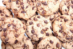 Chocolate Chip Cookies. On white Stock Photography