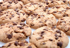 Chocolate Chip Cookies. On white Stock Image