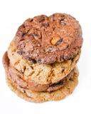 Chocolate chip cookies. Chocolate chip cookies  on white backgroud Stock Photography