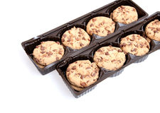 Chocolate Chip Cookies. On white background Royalty Free Stock Photography