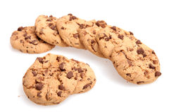 Chocolate Chip Cookies. On white background Stock Photo