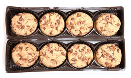 Chocolate Chip Cookies. On white background Stock Photos