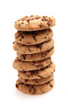 Chocolate Chip Cookies. On white background Royalty Free Stock Photo