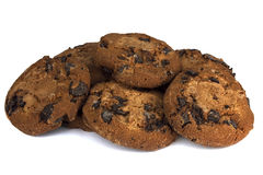 Chocolate chip cookies  on white background Stock Image
