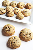 Chocolate Chip Cookies on white Royalty Free Stock Images