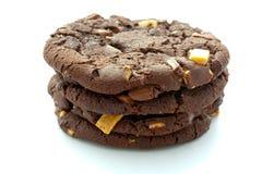 Chocolate Chip Cookies x 4 Fotografía de archivo libre de regalías