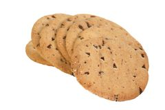 Chocolate chip disgestive biscuits Stock Image