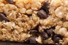 Chocolate chip granola bar Stock Photos