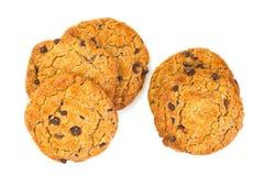 Chocolate chip and hazel nut cookies Stock Photos