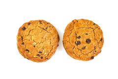 Chocolate chip and hazel nut cookies Royalty Free Stock Image