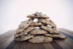 Chocolate chip hazelnut cookies Royalty Free Stock Photos
