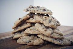 Chocolate chip hazelnut cookies Stock Photo