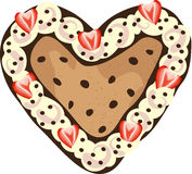 Chocolate Chip Heart Royalty Free Stock Images