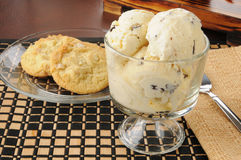 Chocolate chip ice cream Royalty Free Stock Photos