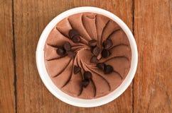 Chocolate chip Italian ice cream tub Stock Images