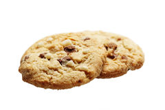 The chocolate chip and macadamia cookies couple isolated Stock Image