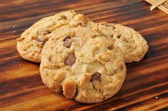 Chocolate chip Macadamia nut cookies Royalty Free Stock Photos