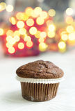 Chocolate Chip Muffin and copy space Royalty Free Stock Photo