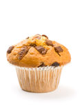 Chocolate chip muffin  isolated on white Royalty Free Stock Photography