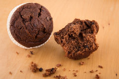 Chocolate chip muffin Royalty Free Stock Photography