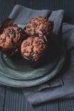 Chocolate Chip Muffins foto de archivo
