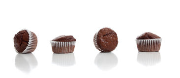 Free Chocolate Chip Muffins On White Royalty Free Stock Photography - 13777857