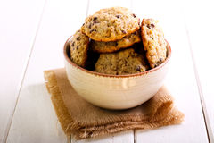 Chocolate Chip Oat Cookies Stock Images