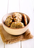 Chocolate chip oat cookies Stock Photos