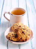 Chocolate chip oat low calorie cookies Royalty Free Stock Photo