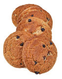 Chocolate chip oatmeal cookies Stock Images