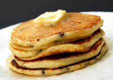 Chocolate chip pancakes Royalty Free Stock Photos