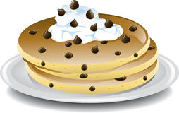 Chocolate chip pancakes Royalty Free Stock Image