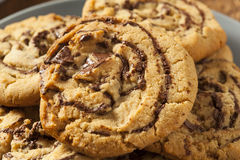 Chocolate Chip Peanut Butter Pinwheel Cookie Stock Photography