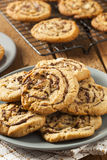 Chocolate Chip Peanut Butter Pinwheel Cookie Stock Images
