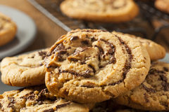 Chocolate Chip Peanut Butter Pinwheel Cookie Stock Photo