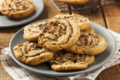 Chocolate Chip Peanut Butter Pinwheel Cookie Stock Image