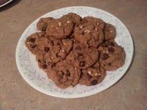 Chocolate Chip and peanut cookies Stock Photos