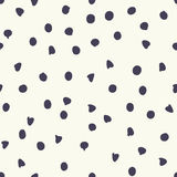 Chocolate chip polka dots, vector seamless pattern Royalty Free Stock Photography