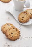 Chocolate chip vanilla cookies Royalty Free Stock Images