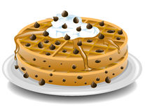 Chocolate chip waffles Stock Images