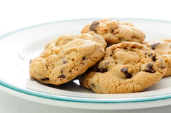Chocolate chip and walnut cookies Stock Photography