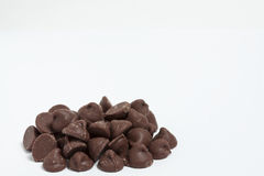 Chocolate Chips. A pile of chocolate chips Stock Photos