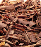 Chocolate chips. Closeup background made by chocolate chips Royalty Free Stock Images