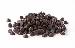 Chocolate chips Stock Photo