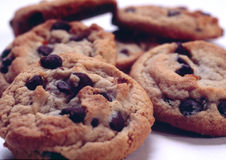 Chocolate Chips. Chocolate chip cookies Royalty Free Stock Image
