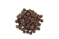 Chocolate Chips from above Stock Photos