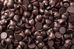 Chocolate chips  background Stock Photos