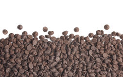 Chocolate Chips Border Stock Image